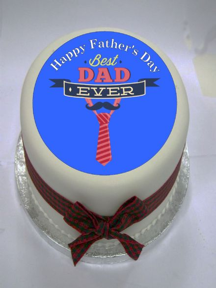 Father's Day Edible Cake Topper (Option 2) Edible Cake Topper